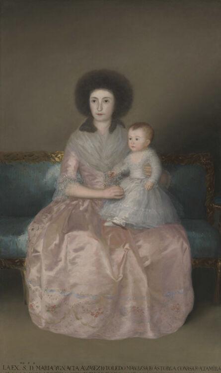 Francisco de Goya, 'The Countess of Altamira and Her Daughter, María Agustina', 1787
