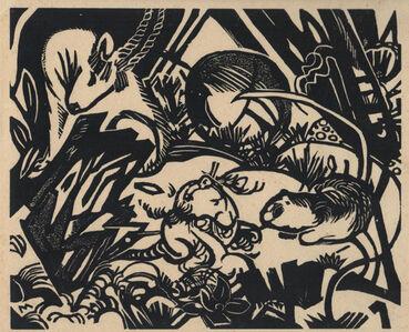 Franz Marc, 'Tierlegende', 1912