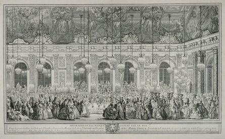 Charles-Nicolas Cochin I, 'Decoration for a Masked Ball given by the King', 1746