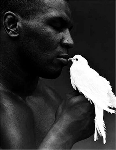 Michel Comte, 'Mike Tyson with Dove', 1990
