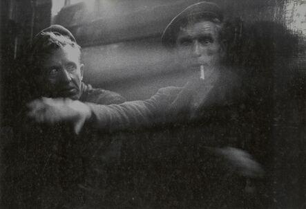 John Cohen, 'Two Miners Having Tea During Break at Mine Office, Littlebourne, Kent', 1955