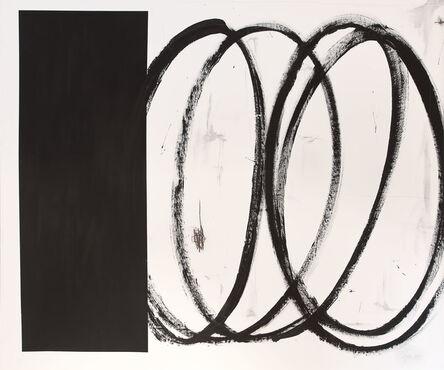 Briggs Edward Solomon, 'Black Square with Swirls', 2014
