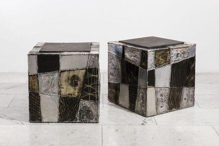 Paul Evans (1931-1987), 'Pair of Argente Cube Side Tables', 1970