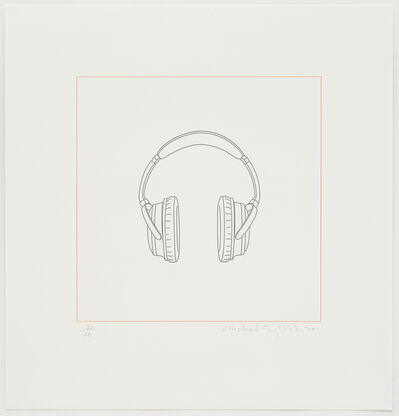 Michael Craig-Martin, 'Headphones', 2015