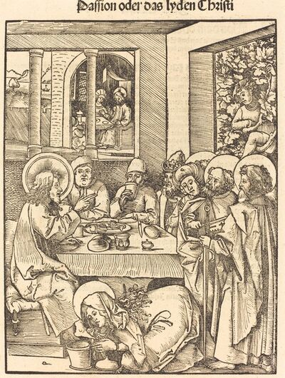 Hans Wechtlin I, 'Mary Magdalen Washing Feet of Christ'
