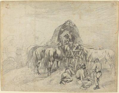 Johann Adam Klein, 'Wallachian Wagoners Resting', probably c. 1813