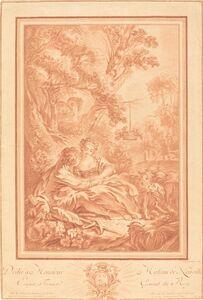Gilles Demarteau, the Elder after François Boucher, 'Tête à Tête (La baigneuse surprise)'