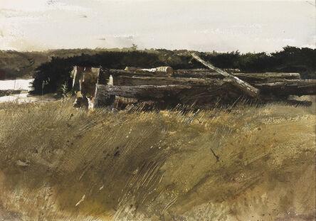 Andrew Wyeth, 'Dock Pilings', 1962