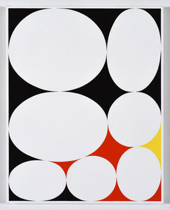 Cary Smith, 'Ovals #19 (black-red-yellow)', 2019
