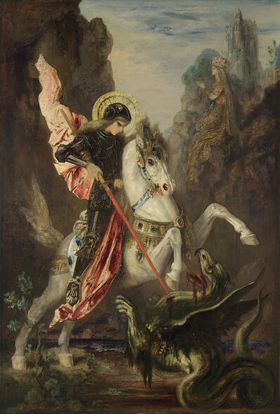 Gustave Moreau, 'Saint George and the Dragon', 1889-1890