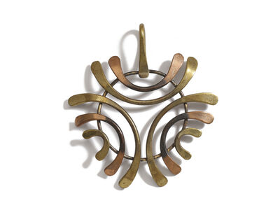Art Smith, 'An Art Smith brass and copper pendant', c.1950