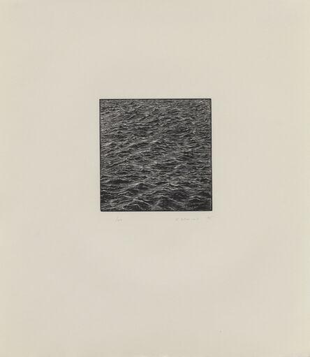 Vija Celmins, 'Untitled (Ocean Woodcut)', 1995