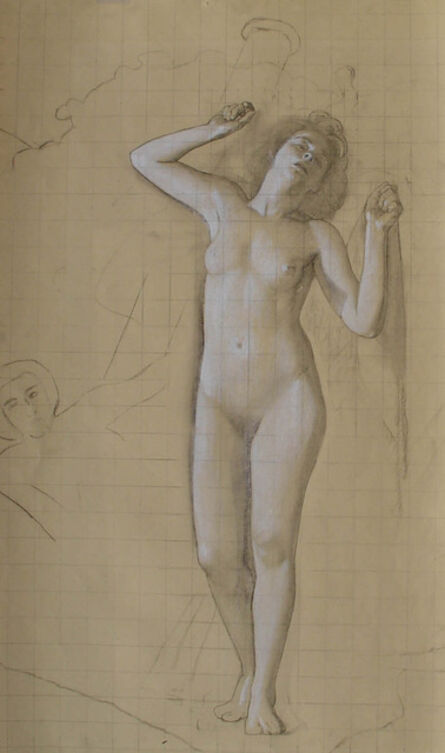 """R. H. Ives Gammell, '[Venus Rising] Study for the Hound of the Heavens, Panel XI """"Would Clash It To""""', ca. 1940"""
