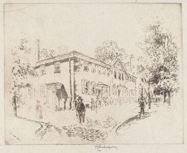 Joseph Pennell, 'Fourth Street, Meeting House, Philadelphia', 1920