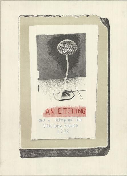 David Hockney, 'An Etching & a Lithograph', 1973