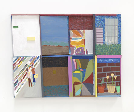 Chris Johanson, 'Oh Hey Mark, It's Been a Long Time, How's It Going (Los Angeles Landscape Painting no.5)', 2014