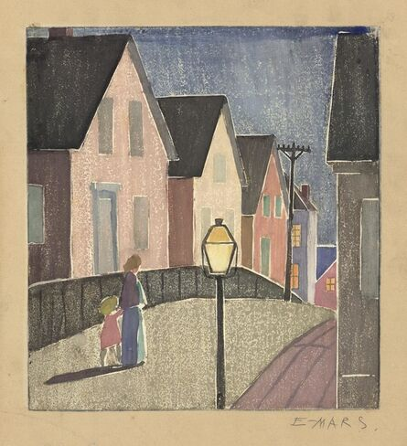 Ethel Mars, 'Street Scene, Provincetown.', ca. 1919