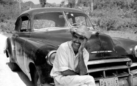 Chris Simpson, 'Ricardo with his Chevrolet, Cuba', 1994