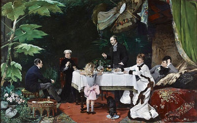Louise Abbema, 'Lunch in the Greenhouse', 1877