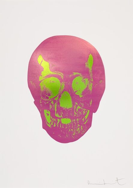 Damien Hirst, 'The Sick Dead: Loganberry Pink/Lime Green Skull ', 2009