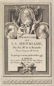 Augustin de Saint-Aubin after Clément-Pierre Marillier, 'Commentaire sur la Henriade', 1775