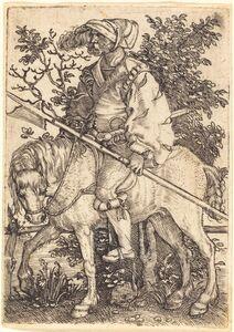 Barthel Beham, 'Halberdier on Horseback'