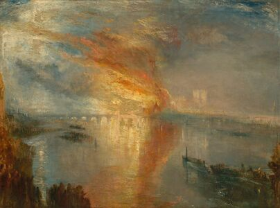 J. M. W. Turner, 'The Burning of the Houses of Lords and Commons, 16 October 1834', 1835