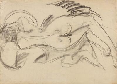 Ernst Ludwig Kirchner, 'Liegender Akt (nach links), verso: Liegender Akt (nach rechts)', 1914