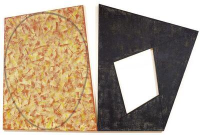 Robert Mangold (b.1937), 'Red With Green Ellipse / Black Frame', 1988/89