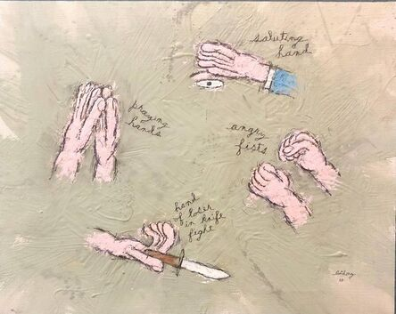William Anthony, 'HOMAGE TO THE HAND Wry Humor Oil Painting', 2000-2009