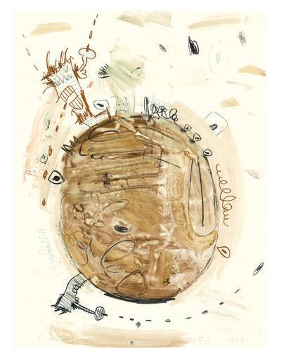 Carroll Dunham, 'Monotype (Brown 2)', 1997