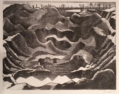 Paul Nash, 'THE MINE CRATER, HILL 60, YPRES SALIENT', 1917