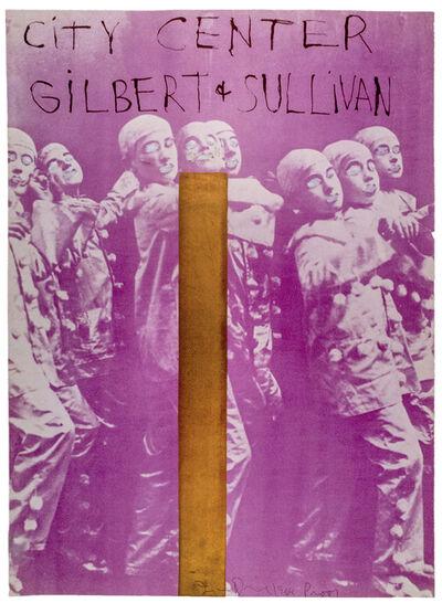 "Jim Dine, 'Hand painted City Center, New York SIGNED ""Gilbert and Sullivan""', 1968"