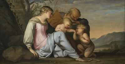 Lubin Baugin, 'Holy Family with the Infant Saint John the Baptist', 1641-1663