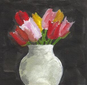 Robert Kulicke, 'Tulips in a White Vase', ca. 1965