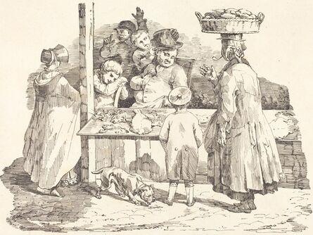 Théodore Gericault and Nicolas-Toussaint Charlet, 'The Dozing Fishmonger (Le marchand de poissons endormie)', 1820