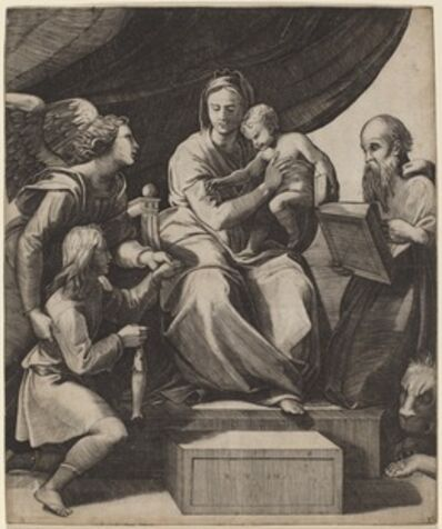 Marco Dente after Raphael, 'The Virgin with a Fish'