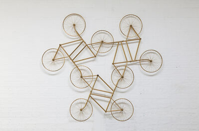 Ai Weiwei, 'Forever (Stainless Steel Bicycles in Gilding) 3 Pairs', 2013