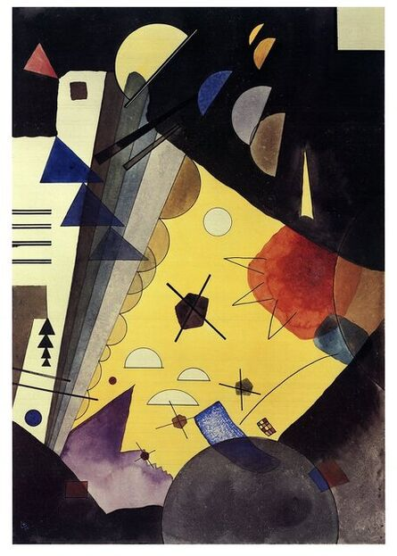 Wassily Kandinsky, 'Tension in Height (No text)', 2017