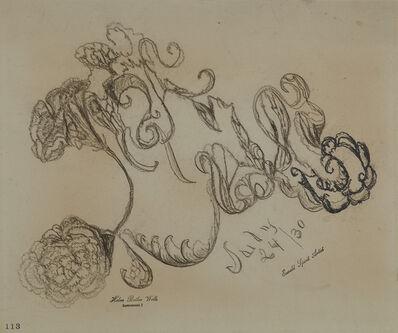 Helen Butler Wells, 'Spirit Drawing #11 - Saily 24/30', 1920-1930