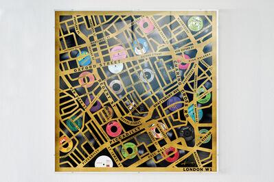 Keith Haynes, 'Postcode Maps London W1', 2020