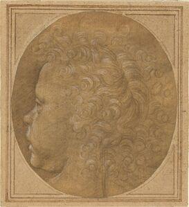 Baccio della Porta, called Fra Bartolommeo, 'Head of a Child [recto]', ca. 1490