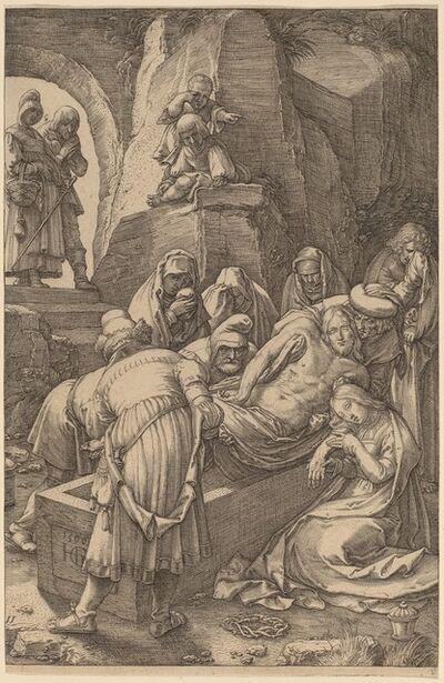 Hendrik Goltzius, 'Burial of Christ', 1596
