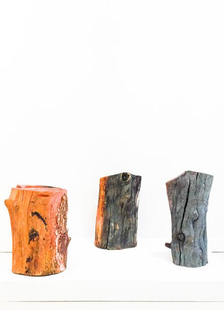 Sam Falls, 'Untitled (Three Logs)', 2012