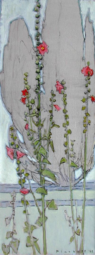 Joseph Plaskett, 'Hollyhock & Cypress'