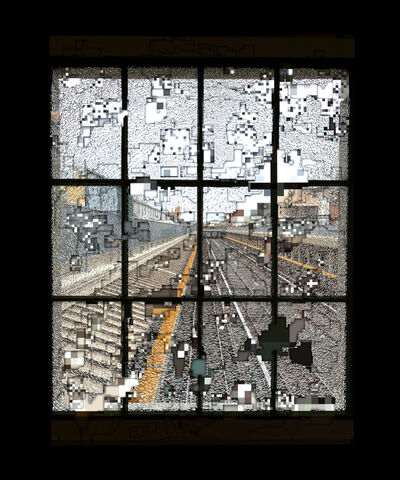exonemo, 'A cracked window, sliced', 2020
