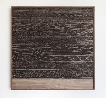 Analía Saban, ' Wooden Floor on Wood (Horizontal)', 2017