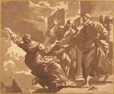 Jan de Bisschop, 'The Death of Sapphira'