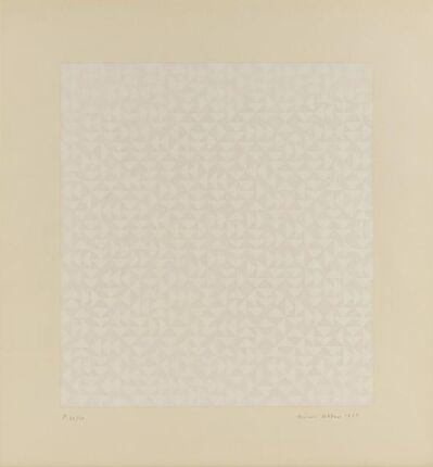 Anni Albers, 'Triadic Series F', 1969