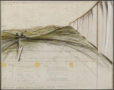 "Christo, '""Running fence""', 1975"